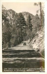 1930s Oak Creek Canyon Flagstaff Prescott Auto Frasher RPPC real photo 6835