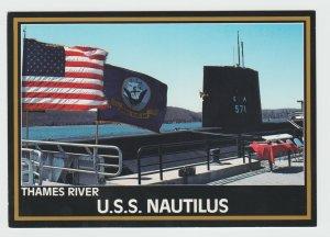 USS NAUTILUS Nuclear Submarine Memorial at Groton CT Thames River Connecticut