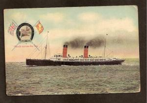 Postcard-R.M.S. CAMPANIA - HANDS ACROSS THE SEA - G.B.