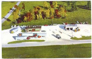 Allenton WI Dinner Bell Restaurant Sinclair Gas Station Trucks Postcard