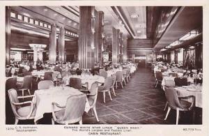 RP, Oceanliner/Steamer/Ship, Cunard White Star Line Queen Mary, Cabin Resta...