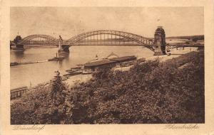 Duesseldorf Rheinbruecke Schiff Boats River Bridge 1922