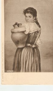 Lady with jug Tuck Continental Italian Life Ser. 4104