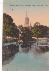 Connecticut Hartford Capitol and Pond Bushnell Park 1908