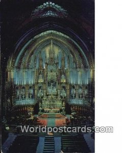 Notre Dame Church Montreal Canada Writing On Back