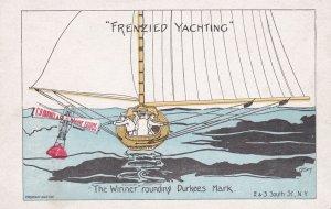Yacht Racing Comic ; The Winner rounding Durkees Mark , 00-10s