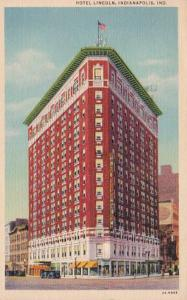 Indiana Indianapolis Hotel Lincoln 1943 Curteich