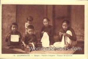 Vietnam, Viet Nam,  Nhân Vật Cochinchine Saigon, Famille Indigene, Travaux...