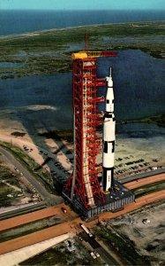 Florida NASA John F Kennedy Space Center Aerial View Apollo Saturn V