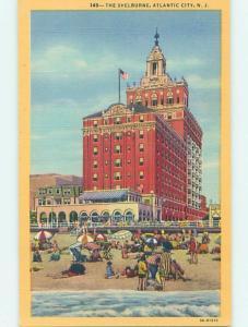 Unused Linen SHELBOURNE HOTEL Atlantic City New Jersey NJ B1476