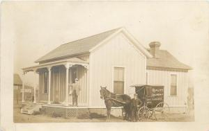 c1907 RPPC Horsedrawn Wagon Quality Laundry & Dry Cleaners, probably Los Angeles