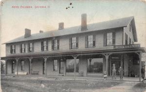 E17/ Leetonia Ohio Postcard c1910 Columbiana County Hotel Columbia Building