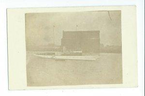 Postcard RPPC 1912 Detroit Railroad Elevator Company Steamship In Front VPC8.