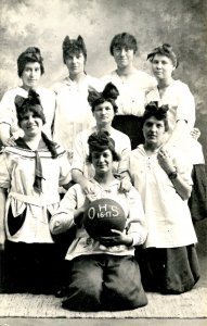 VT - Orleans. High School Girls Basketball Team, 1916-17   (Reproduction)