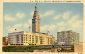 OH - Cleveland. New U S Post Office and Terminal Tower