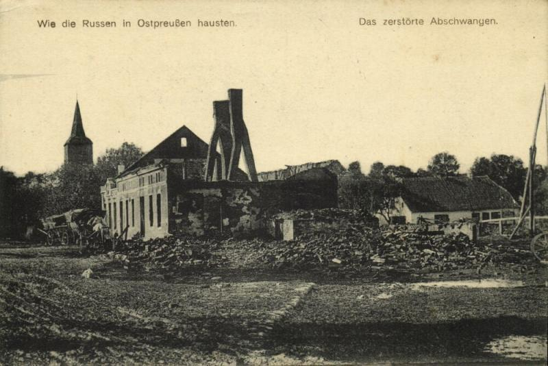 poland germany, How the Russians lived in East Prussia, Destroyed Houses (1915)