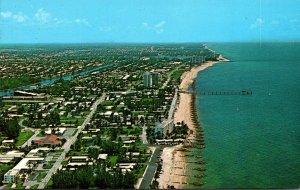 Florida Deerfield Beach Aerial View Looking North