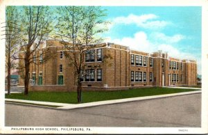 Pennsylvania Philipsburg High School 1935 Curteich