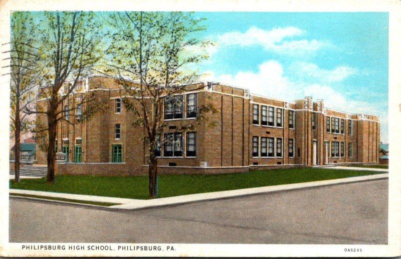 Pennsylvania Philipsburg High School 1935 Curteich
