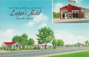 Looper's Motel, Clarksville, Arkansas Vintage Postcard