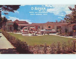 Unused Pre-1980 OLD CARS & EL BAYAN MOTEL APARTMENTS Santa Barbara CA u0736