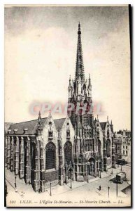 Old Postcard Lille St Maurice Church