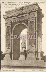 Postcard Old Proyart Somme Arc de Triomphe At Defenseurws of the Somme