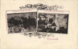 suriname, PARAMARIBO, Aerial View Harbour and Gravenstraat (1899) Postcard