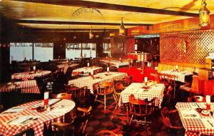 Miami Florida~Checkered Table Cloth~Mike Gordon Seafood Restaurant~1966 Postcard