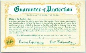 Vintage 1941 Comic Mutoscope / Arcade Exhibit Card GUARANTEE OF PROTECTION