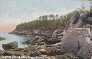 Maine Ragged Island Shore Scene 1910