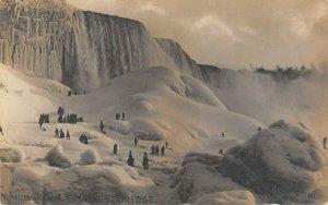 LP82   Niagara Falls  New York NY RPPC  Postcard Winter Peck Photo