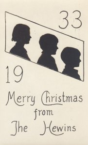 RP: Silhouette ; Merry christmas from the Hewins , 1933