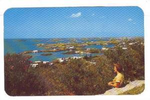 Gibbs Hill view of Bermuda Island, Hamilton, Bermuda,  40-60s