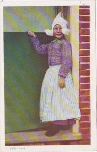 Netherlands Volendam Young Girl In Taditional Costume