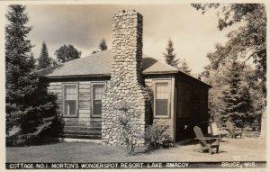 RP: BRUCE , Wisconsin, 30-40s ; Morton's Wonderspot Resort, Lake Amacoy
