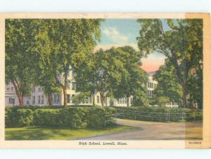 Damaged By Tape Linen HIGH SCHOOL SCENE Lowell Massachusetts MA E2173