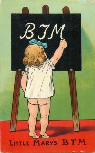 Little Mary BTM early comic postcard