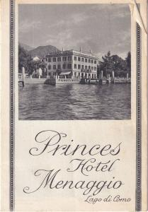Princes Hotel Menaggio Lago Di Como Brochure Guide 1950s Book