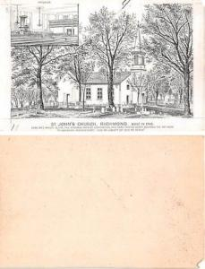 Approx Size Inches = 2.75 x 4.25 St Johns Church Richmond, Virginia, USA Trad...