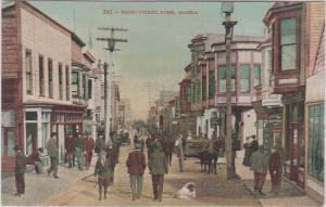 NOME ALASKA - Early view of FRONT STREET 1910s era