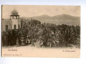 172369 SPAIN CANARY LAS PALMAS St.Catalona garten postcard