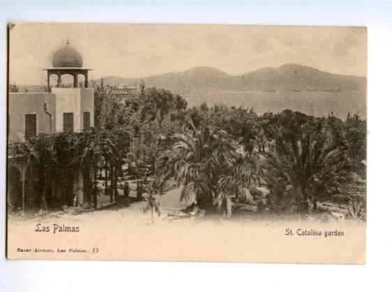 172369 SPAIN CANARY LAS PALMAS St.Catalona garten postcard