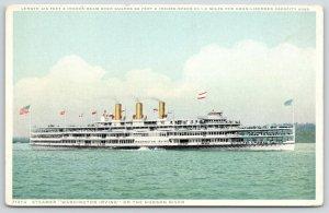 New York~PSWashington Irving~Hudson River~Detroit Publ #71374 1912 Sunk 1926 PC