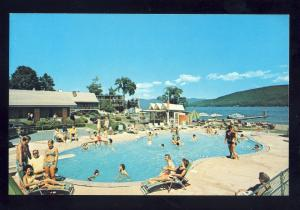 Lake George, New York/NY Postcard, Marine Village Resort Motel