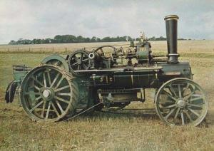 Princess Mary Ploughing Engine 15436 Somerset Restored Vehicle Photo Postcard