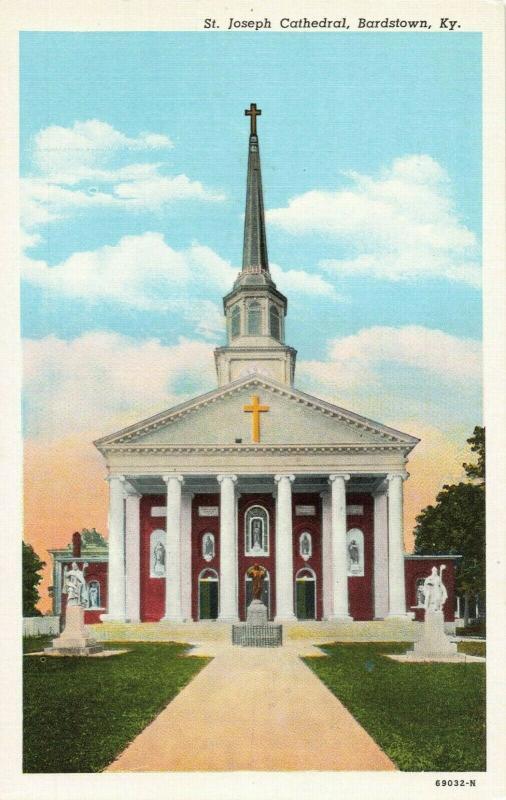 Postcard St. Joseph Cathedral Bardstown Kentucky