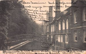 Queens Bridge, Cambridge, England, Great Britain, Early Postcard, Used in 1906