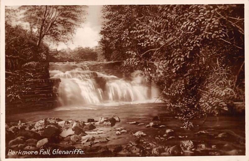 Northern Ireland Glenariffe Parkmore Fall Cascade, Waterfall, Real Photo