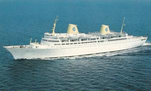 Swedish American Line, New Deluxe Motorliner KUNGSHOLM, Passenger Ship, 40-60s